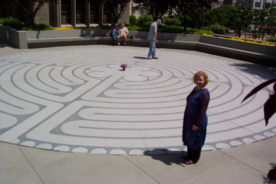 Deborah Redfern at Grace Cathedral Labyrinth