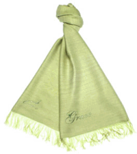 Aware hand-woven scarf