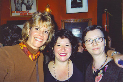 June, Laurie Sue and Sandra at an author's reading in New York City
