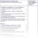 Online printable questionnaire